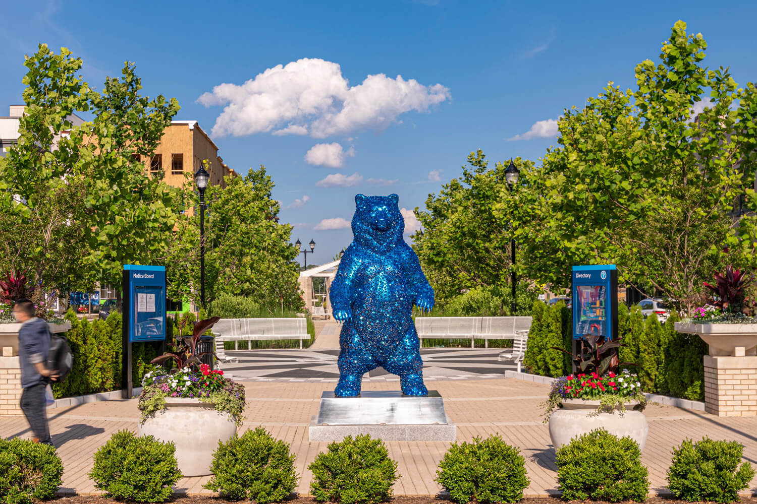 Sir Rulean the bear welcomes you to Riverdale Park!