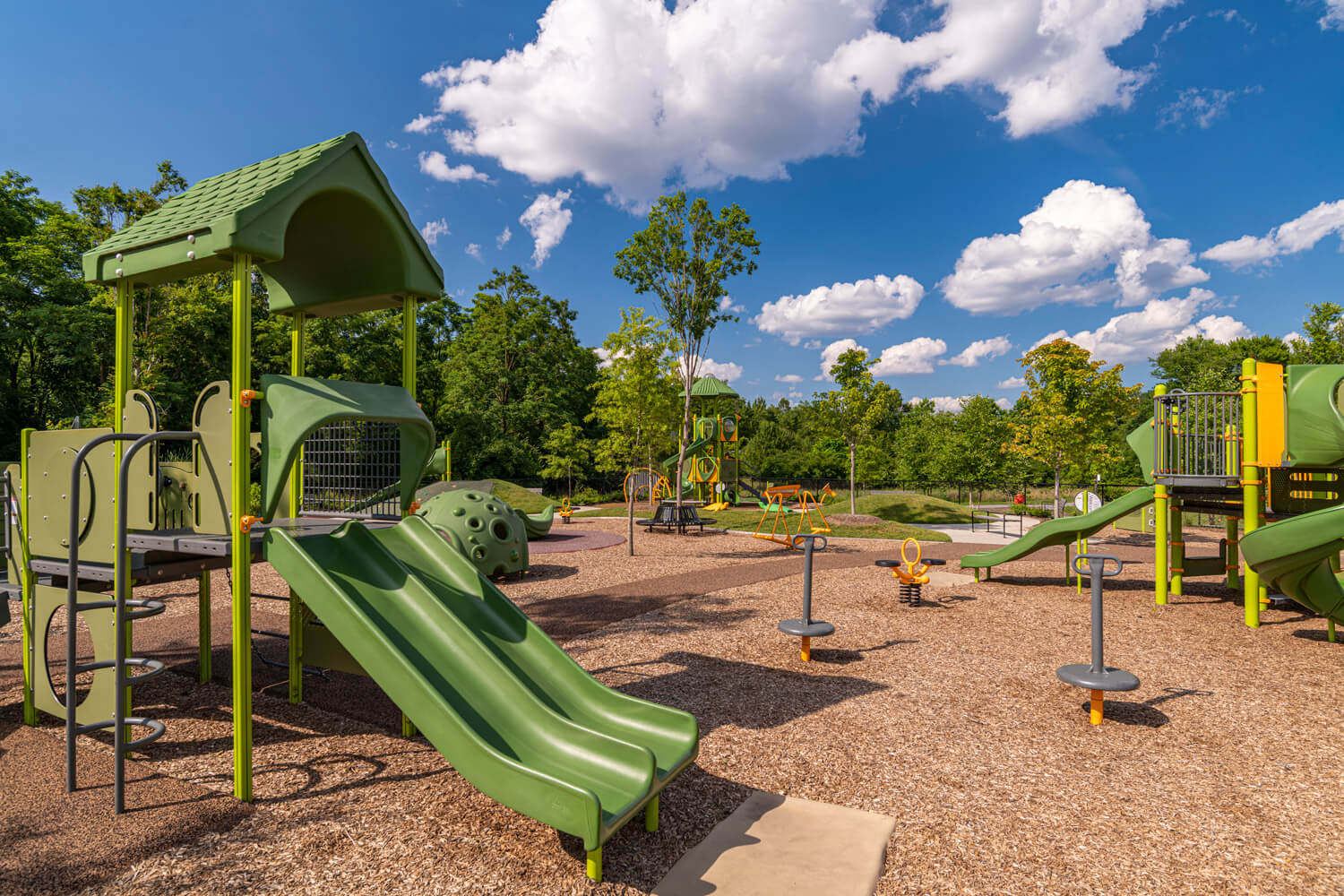 Keep the kids entertained at our playground